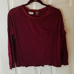 Maroon 3/4 sleeve shirt